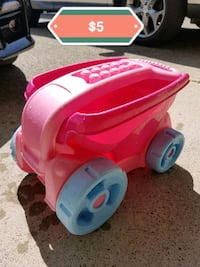 User Small Pink Plastic Wagon