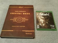 XBox One Fallout 4 game + 540p Hardcover guide