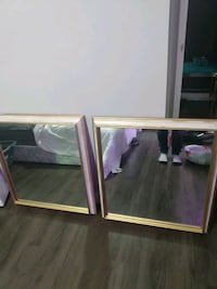 2 mirrors with solid frame