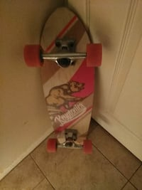 red and gray skateboard