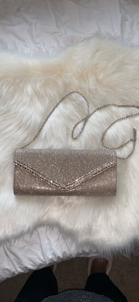 Rose Gold Glitter Evening Clutch with Strap New Orleans, 70130