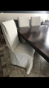 slip covers for chairs in ivory 9 for  120$  Laval, H7E 5N7