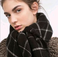 Zara Blanket Scarf (Black/White) Richmond Hill, L4B 3V6