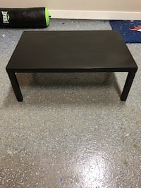 Black IKEA coffee table. Size - 17 3/4 inches tall, 46 1/2 inches long, 30 3/4 inches wide Dripping Springs, 78620