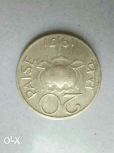 Rare Indian Coin in brass