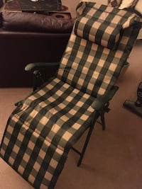 Patio chair (foldable) with pillow Montreal