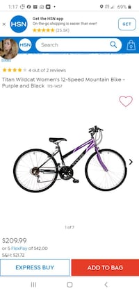 Purple Titan Wildcat Women's Mountain Bike