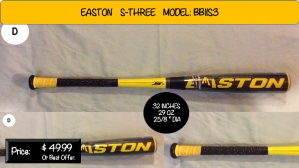 Easton S-Three Bat