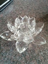 Crystal water lily candle holder Georgina