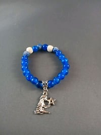 Blue & white beaded diffusuer w/Aquarius charm Nashua, 03060