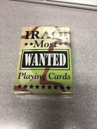 Iraq Most Wanted playing cards