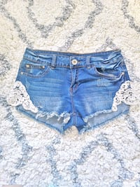 Distressed Denim Booty Shorts