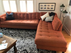 Stylish Sectional from Asheville NC! Two years old, retailed for $4000