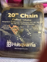 Chainsaw chain 20 in      New. Husqvarna Ridgeland, 39157