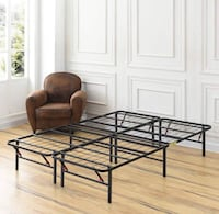 Heavy-Duty 14-Inch Platform Metal Bed Frame Queen Size - New! Plainfield, 60585