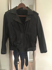 Topshop leather 3/4 sleeve jacket - size uk10/small Vancouver, V5R 5G9