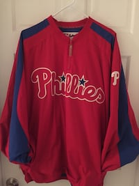 Phillies Coach Jacket XXL Majestic Authentic Collection (EX-Like New) Baltimore, 21211