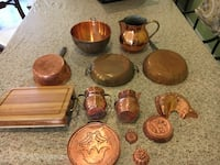 REDUCED Collection of copper pieces Columbia, 21044
