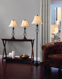 NEW Table Floor Lamp Set