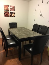 Dining room table with 6 chairs  WASHINGTON