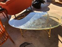 Coffee Table, Glass and Brass Thornton, 80241