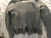 black scoop-neck corduroy sweater 12 km