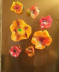 Candy creations-flower power frig magnets  Monticello, 52310