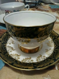 white and brown ceramic teacup and saucer Alexandria, 22312
