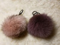 "3 1/2"" Genuine Fur Pom Pom Keychain w/Black Keyrings Dale City, 22193"