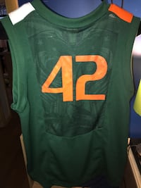 Youth Large Miami Hurricanes basketball jersey Peabody, 01960