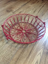 Red metal basket Cobourg, K9A 3L9