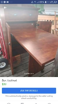 rectangular brown wooden table with chairs Lakeshore, N0R 1A0