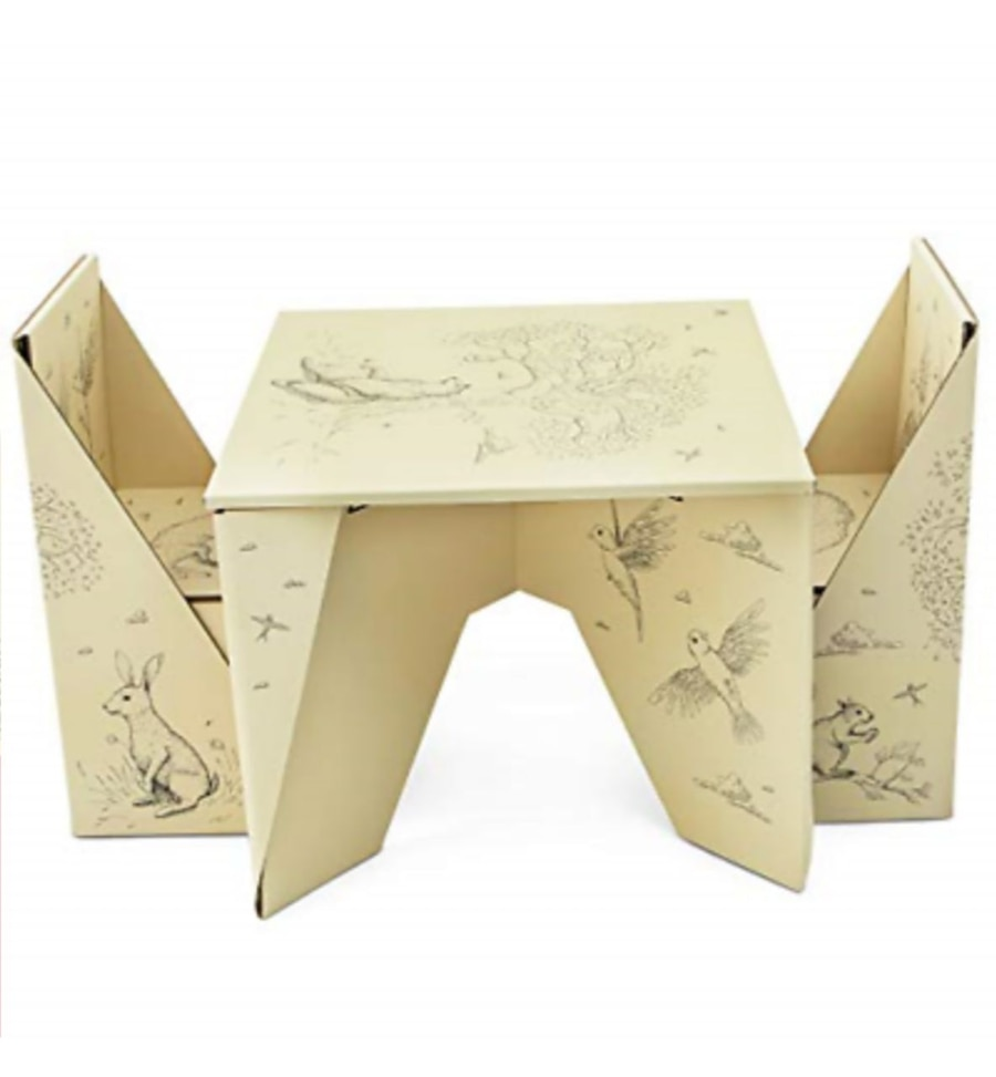 New Birch U0026 Forest Origami Table And Chairs
