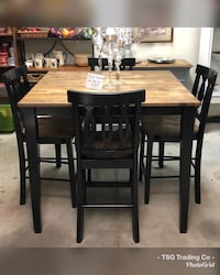 Dark farmhouse counter height table set  Concord, 28027