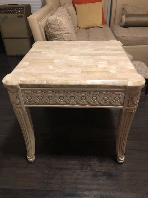End tables marble tops  2