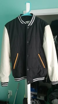 black and white button-up letterman jacket Fairfax, 22030