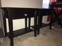 black wooden single-pedestal desk Centreville, 20120