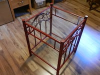 Red Metal Glass Table London
