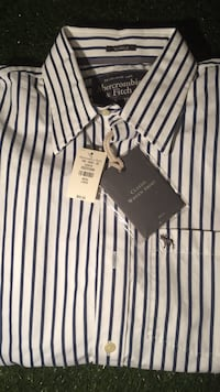 Abercrombie & Fitch Large Classic Woven Shirt Silver Spring, 20906