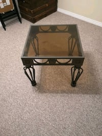 square black metal framed glass top table Sarnia, N7S 5P4