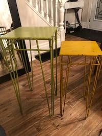 Industrial End Tables - Set of Two Toronto, M4L 2P5