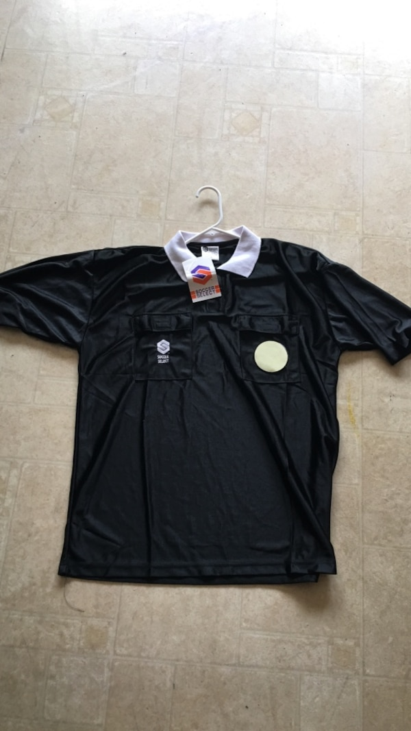 2c2b5148068 Used Black soccer select referee jersey. New 3 sizes for sale in San Jose -  letgo