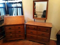 brown wooden dresser with mirror Santa Fe Springs, 90670