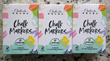 3 Boxes Of Chalkola Liquid Chalk Markers for Chalkboards