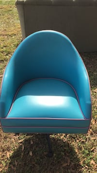 blue and black leather chair East Lake, 33617