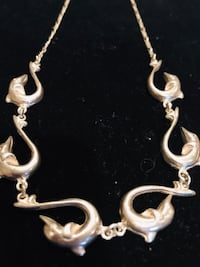 Unique dolphin link necklace from Greece!