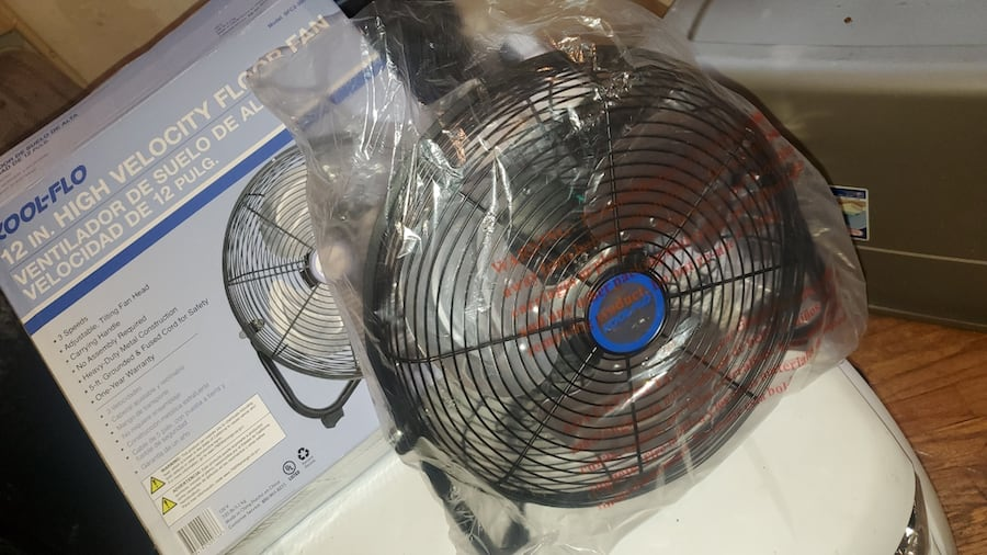 12 in small high velocity metal fans 6
