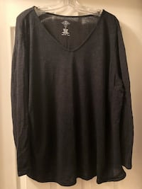 St. John's Bay size 2X black sweater Ashburn