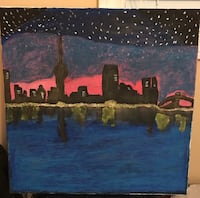 Night view paintings for wall decoration Mississauga, L4T 3P1