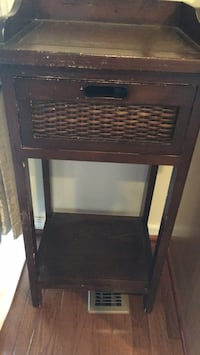brown wooden side table Ashburn, 20148